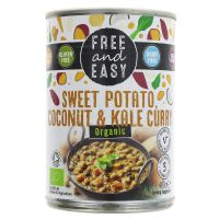 Free & Easy Organic Sweet Potato, Coconut & Kale Curry 400g